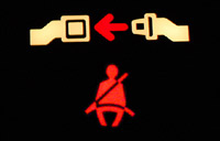 Seatbelt warning light