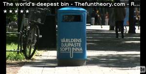 World's deepest bin