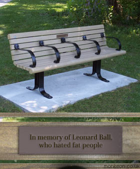 In memory of Leonard Ball, who hated fat people