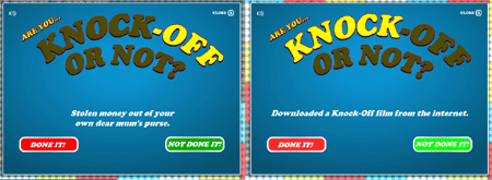 The 'Knock-off Nigel' campaign equates theft of money with downloading a movie