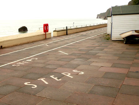Steps in Dawlish, Devon