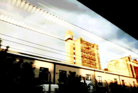 Trellick Tower from the Great Western Main Line